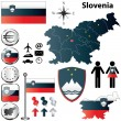 Slovenia map — Stock Vector