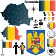 Stock Vector: Romania map