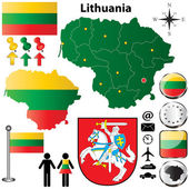Lithuania map — Stock Vector