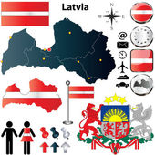Latvia map — Stock Vector