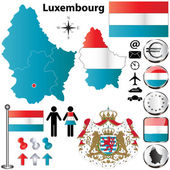 Luxembourg map — Stock Vector