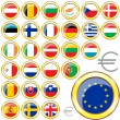 Stock Vector: EuropeUnion buttons