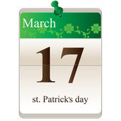 St Patricks Day Calendar — Stock Vector