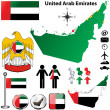 United Arab Emirates map — Stock Vector