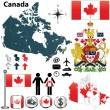 canada map — Stock Vector