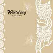 Wedding card invitation — Stock Vector