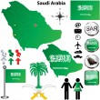Saudi Arabia map - Stock Vector