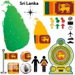 Sri Lanka map - Stock Vector