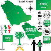 Saudi Arabia map — Stock Vector