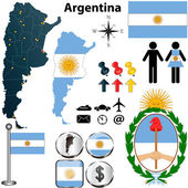 Argentina map — Stock Vector