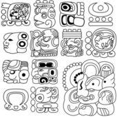 Mayan hieroglyphs — Stock Vector