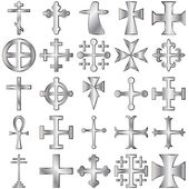 Kříže sada — Stock vektor