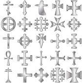 Zestaw krzyży — Wektor stockowy