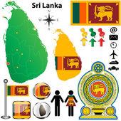 Sri Lanka map — Stock Vector