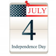 Calendar for 4th July — Stock Vector