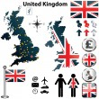 Map of United Kingdom — Imagen vectorial
