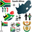������, ������: South Africa map with regions