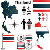 Map of Thailand — Stock Vector