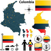 Colombia map — Stock Vector