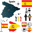 Map of Spain — Stock Vector #23935163