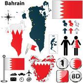 Carte de bahreïn — Vecteur