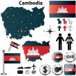 Map of Cambodia — Stock Vector