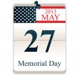 Calendar for Memorial Day - Stock Vector