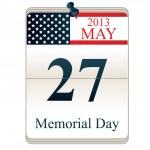 Kalender för memorial day — Stockvektor