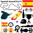 Stock Vector: Spanish Grand Prix F1