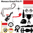 Stock Vector: Monaco Grand Prix F1