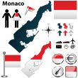 Map of Monaco — Stock Vector