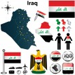 Stock Vector: Map of Iraq