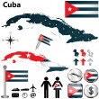Map of Cuba — Stock Vector