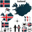 Map of Iceland — Stock Vector #25378521