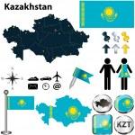 Постер, плакат: Map of Kazakhstan