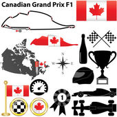 Canada Grand Prix F1 — Stock Vector