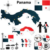 Map of Panama — Stock Vector