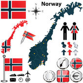 Map of Norway — Stock Vector