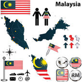 Map of Malaysia — Stock Vector