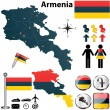 Map of Armenia — Stock Vector
