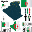 Map of Algeria — Stock Vector