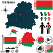 Map of Belarus — Stock Vector