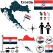 Map of Croatia — Stock Vector