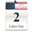 Calendar for Labor Day — Stock Vector