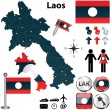 Map of Laos — Stock Vector