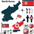 Map of North Korea — Stock Vector #26128107