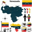 Map of Venezuela — Stock Vector