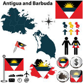 Map of Antigua and Barbuda — Stock Vector