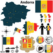 Map of Andorra — Stock Vector