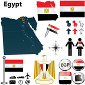Map of Egypt — Stock Vector